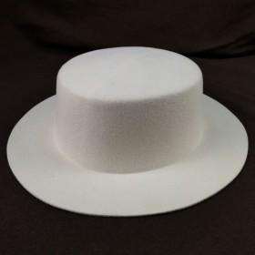Boater hat white felt