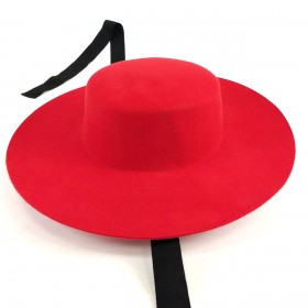 Boater hat red